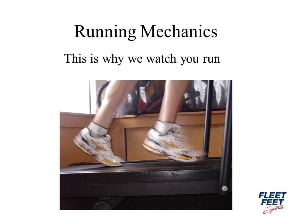 Running Mechanics This is why we watch you run
