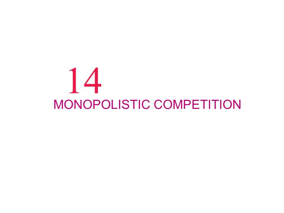 14 MONOPOLISTIC COMPETITION