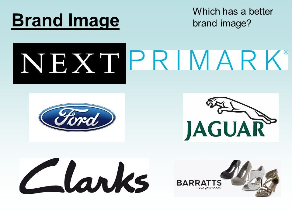 Brand Image Which has a better brand image?
