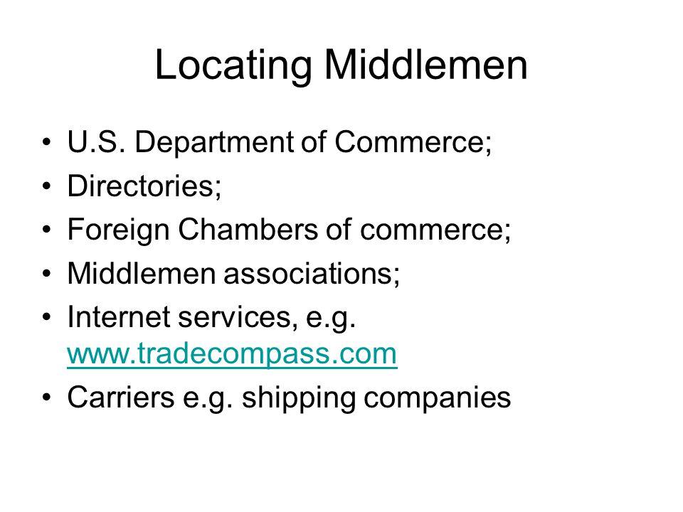 Locating Middlemen U.S.