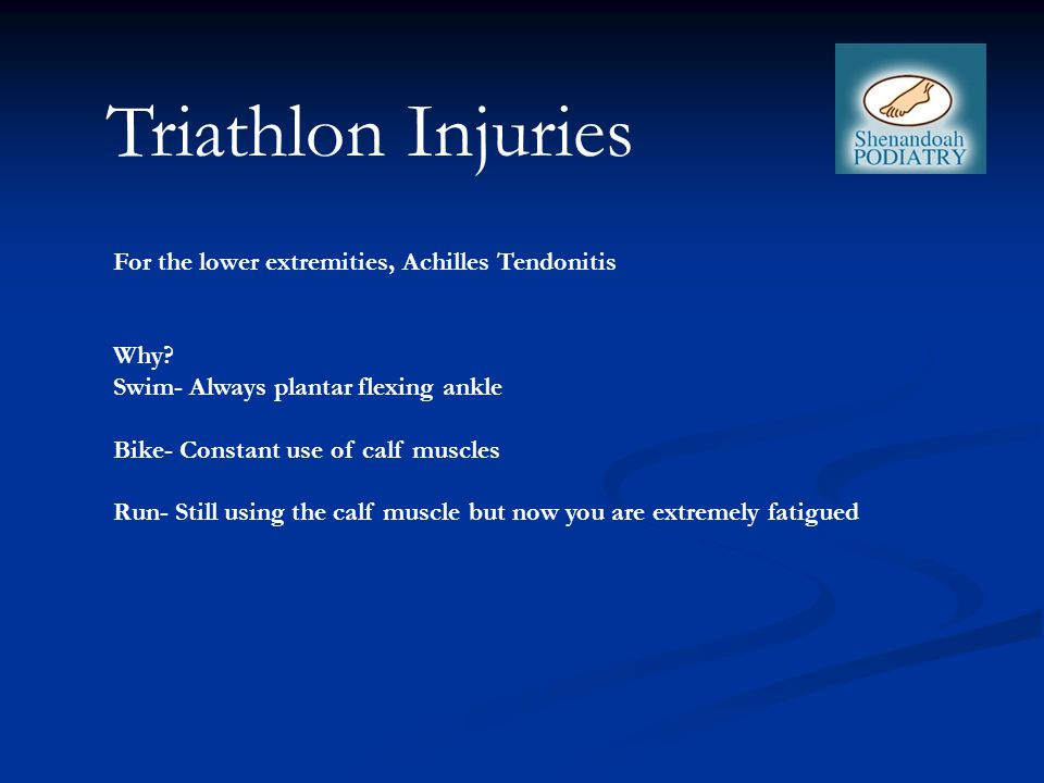 For the lower extremities, Achilles Tendonitis Why.