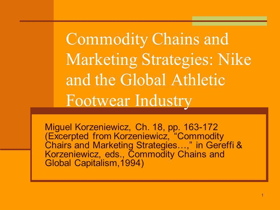 the global strategy of nikes industry The global footwear market: athletic and non-athletic shoes branded product concept and strategy development industry hopes to.