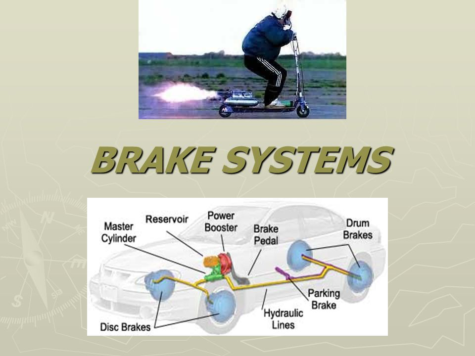 Levers The brake pedal gives a mechanical advantage because it acts as a lever The brake pedal gives a mechanical advantage because it acts as a lever The input into the braking system is increased due to this advantage The input into the braking system is increased due to this advantage