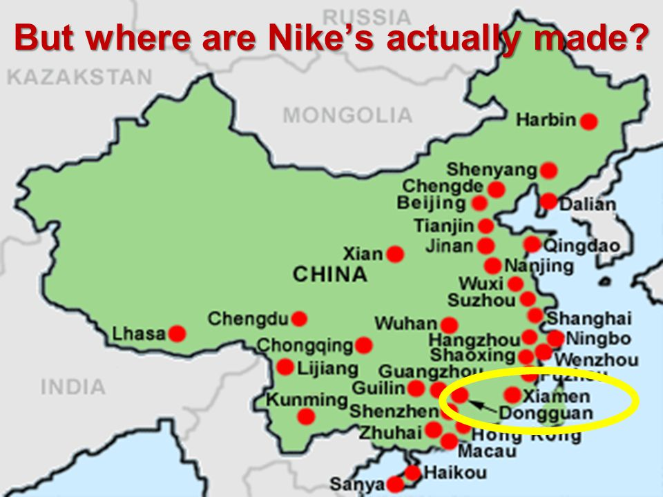 But where are Nikes actually made