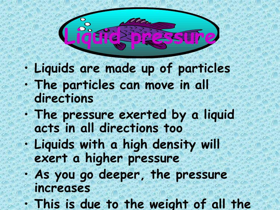 Practice using the formula for pressure 1.A box weighs 500N.