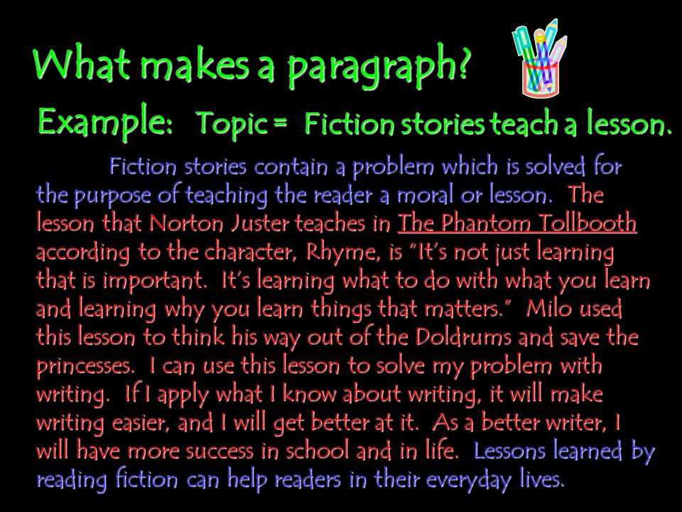 The Writing Process: Topic Sentences