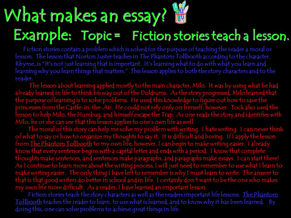 Writing an essay about my classmate-topic sentence?