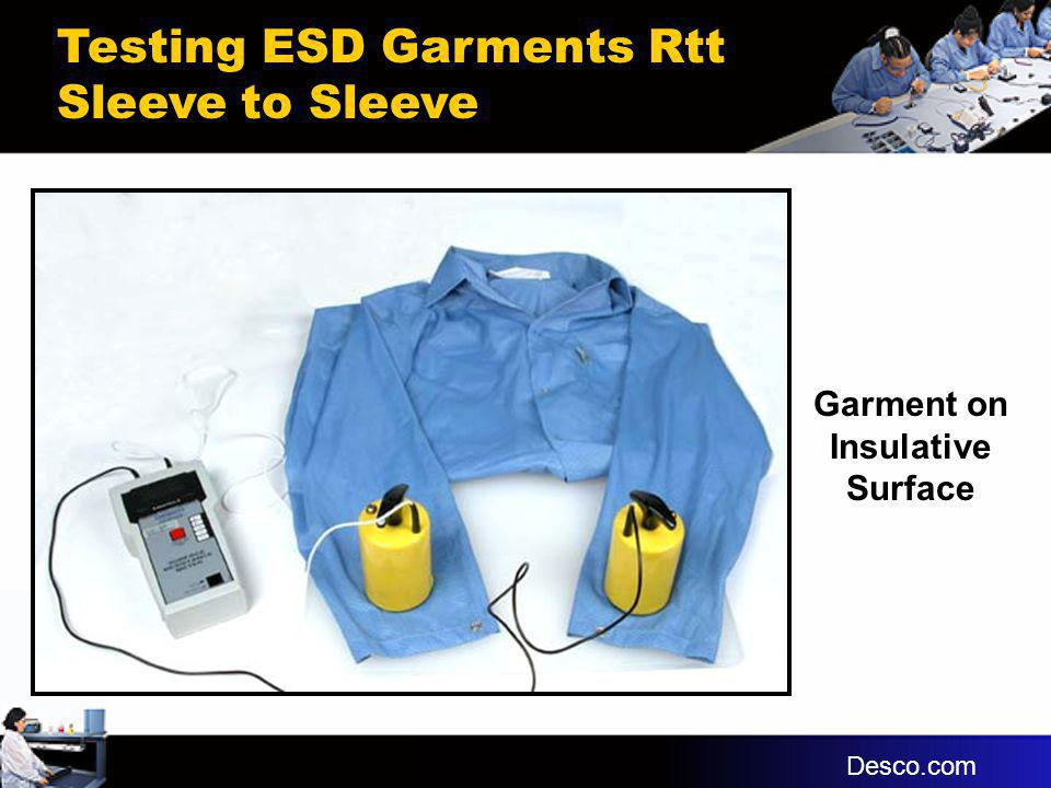 Garment on Insulative Surface Testing ESD Garments Rtt Sleeve to Sleeve