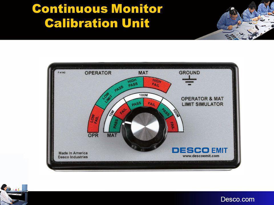Continuous Monitor Calibration Unit