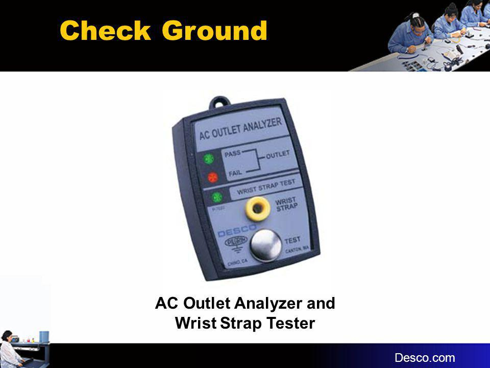 AC Outlet Analyzer and Wrist Strap Tester Check Ground