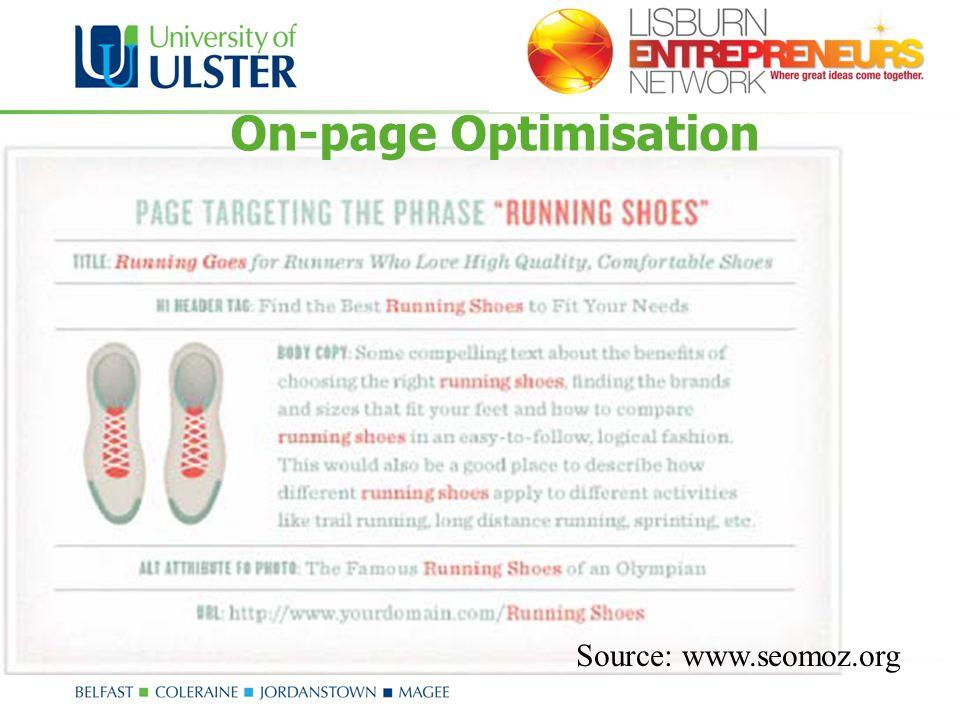 On-page Optimisation Source: www.seomoz.org