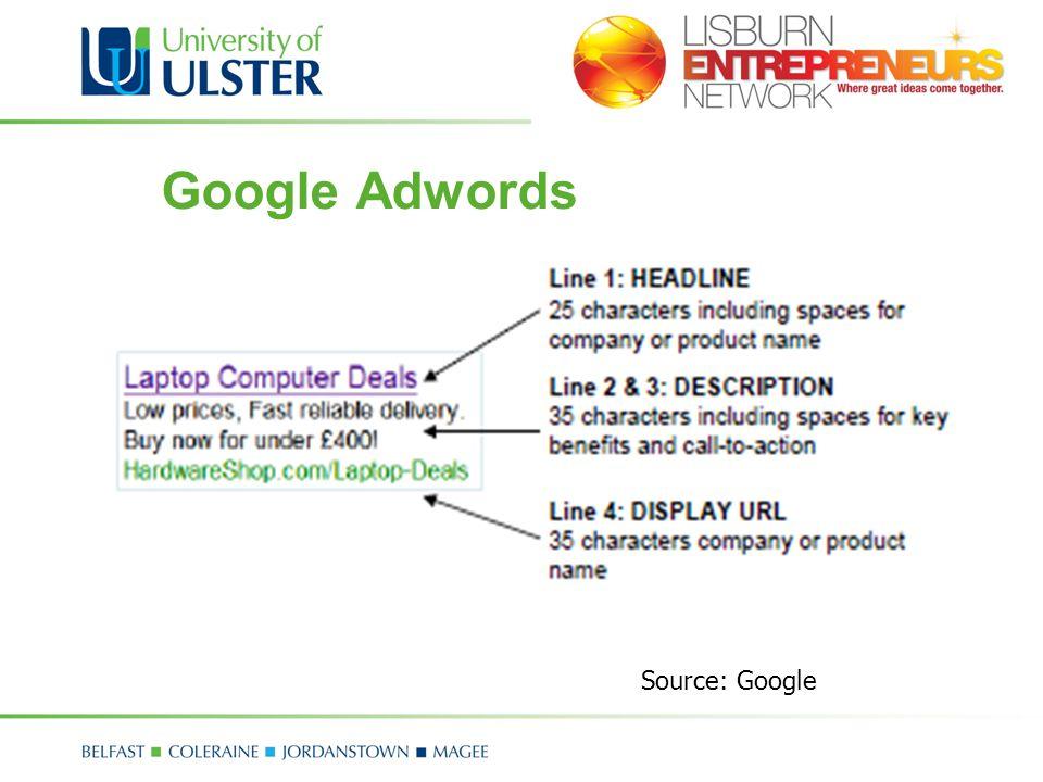 Google Adwords Source: Google