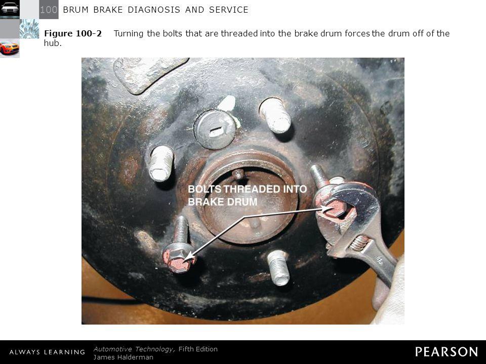 100 BRUM BRAKE DIAGNOSIS AND SERVICE Automotive Technology, Fifth Edition James Halderman © 2011 Pearson Education, Inc.