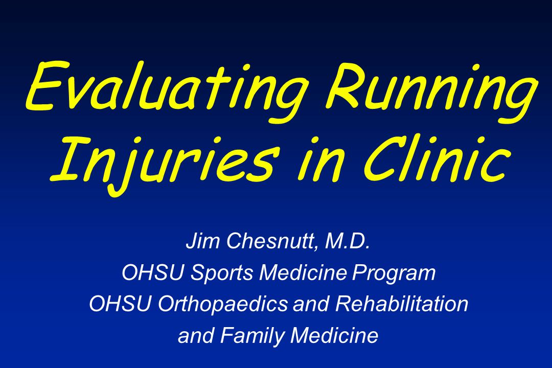 Common Running Injuries Look at biomechanics of running Consider factors leading to overuse injury Identify common running injuries Learn treatment and prevention strategies