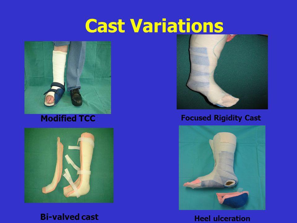 Modified TCC Bi-valved cast Cast Variations Focused Rigidity Cast Heel ulceration