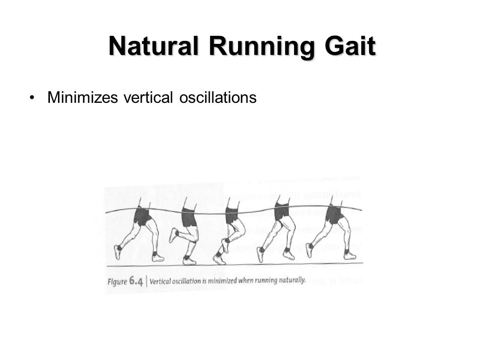 Natural Running Gait Minimizes vertical oscillations