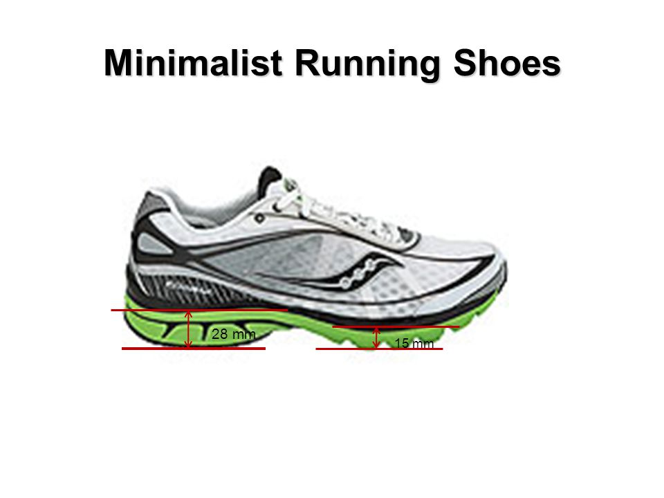 Minimalist Running Shoes 15 mm 28 mm