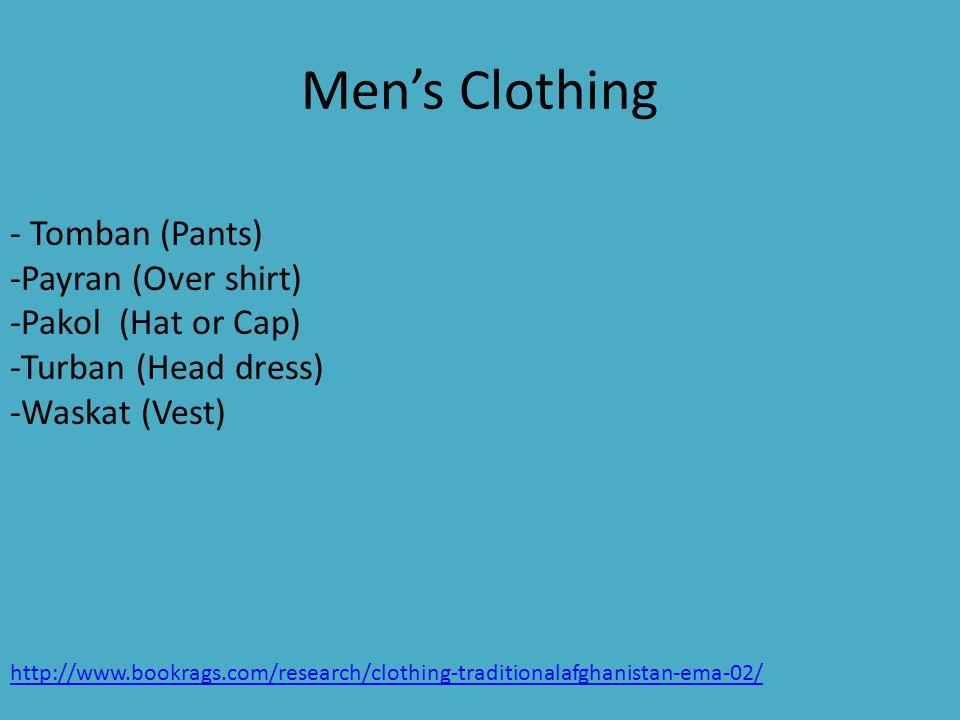 Tomban (Pants ) Payran (Overshirt ) Waskat (Vest) Turban (Head Wrap)