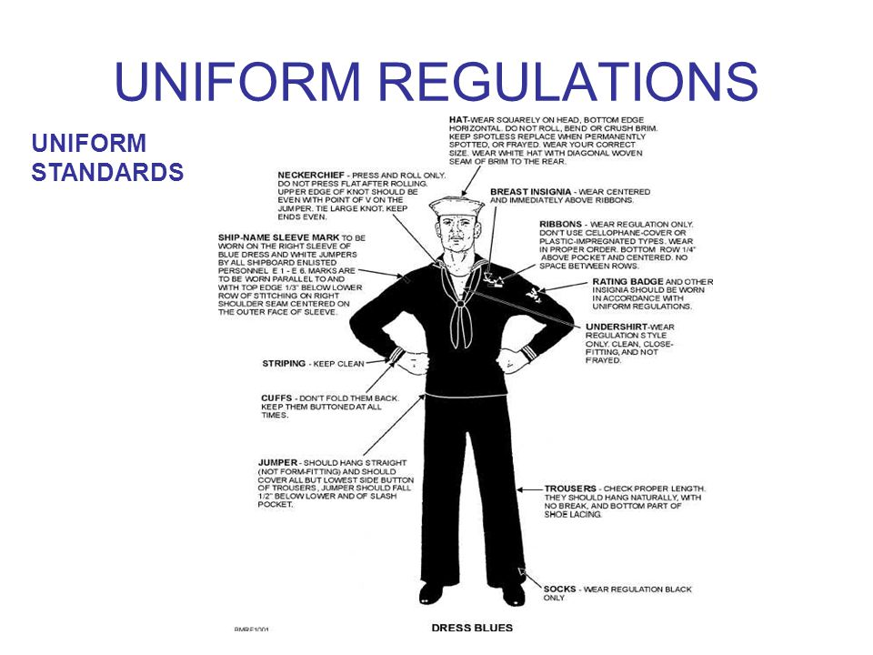 UNIFORM REGULATIONS UNIFORM STANDARDS