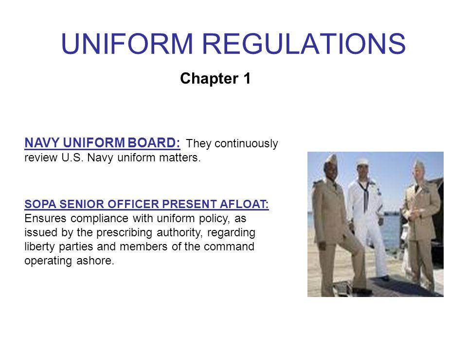 UNIFORM REGULATIONS UNIFORM STANDARDS