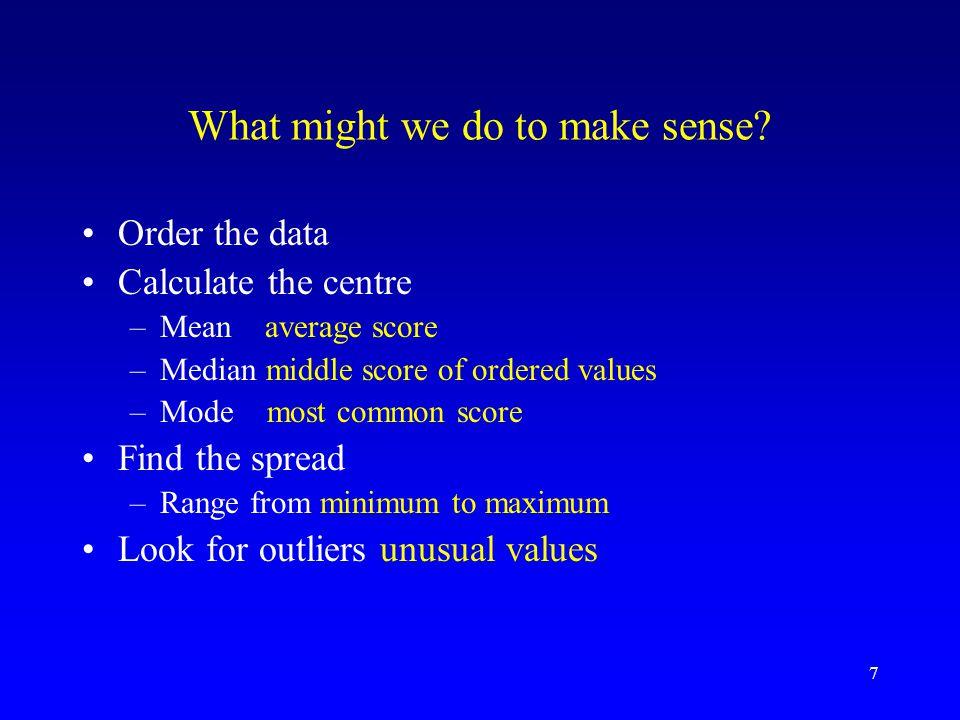 7 What might we do to make sense.