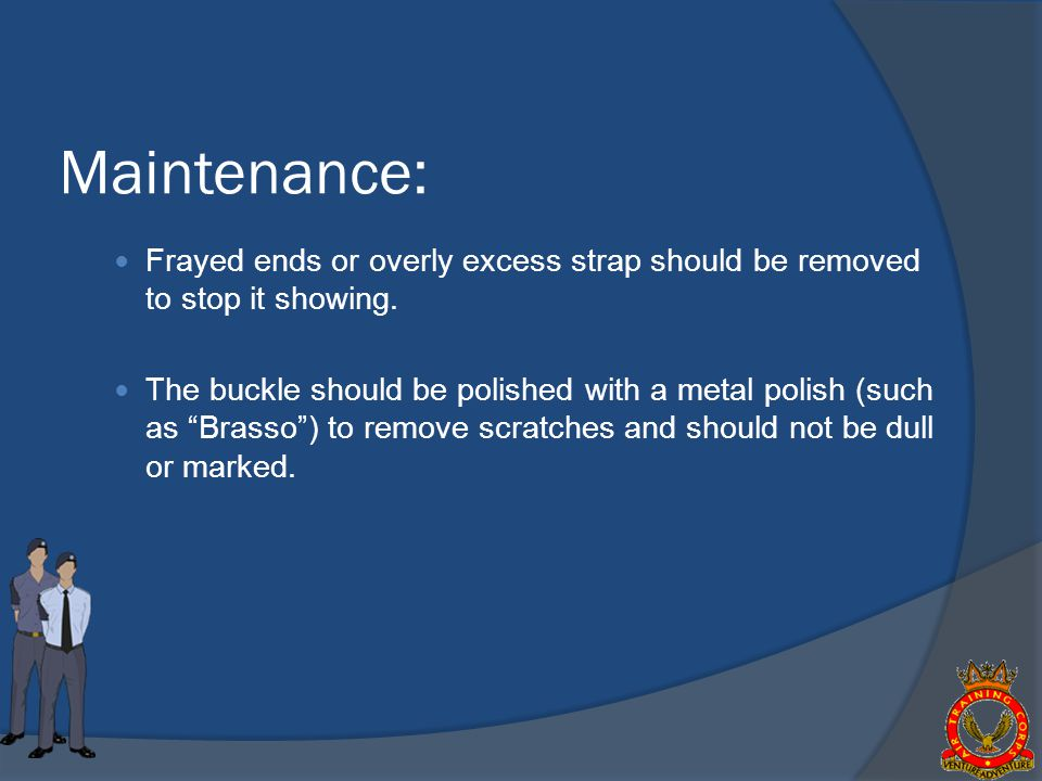 Frayed ends or overly excess strap should be removed to stop it showing.