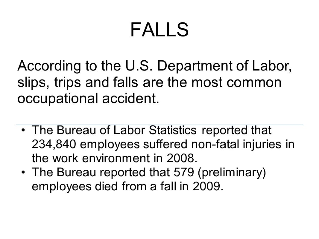 FALLS According to the U.S.