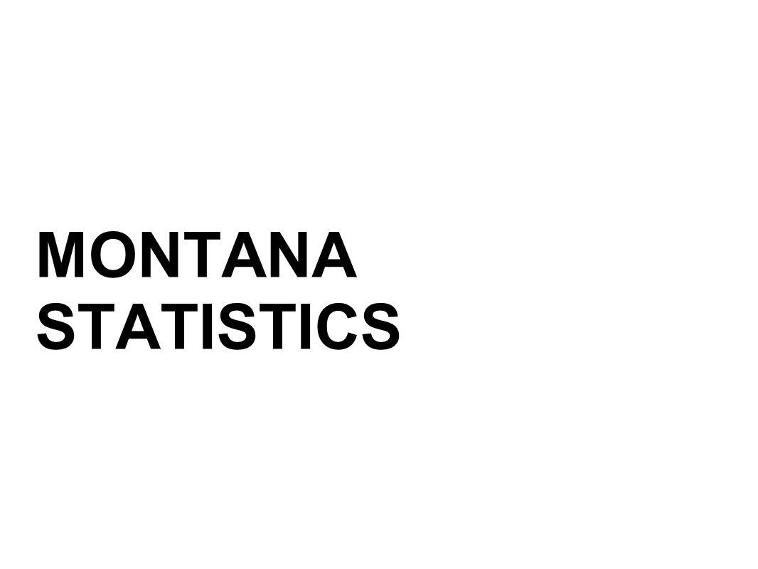 MONTANA STATISTICS