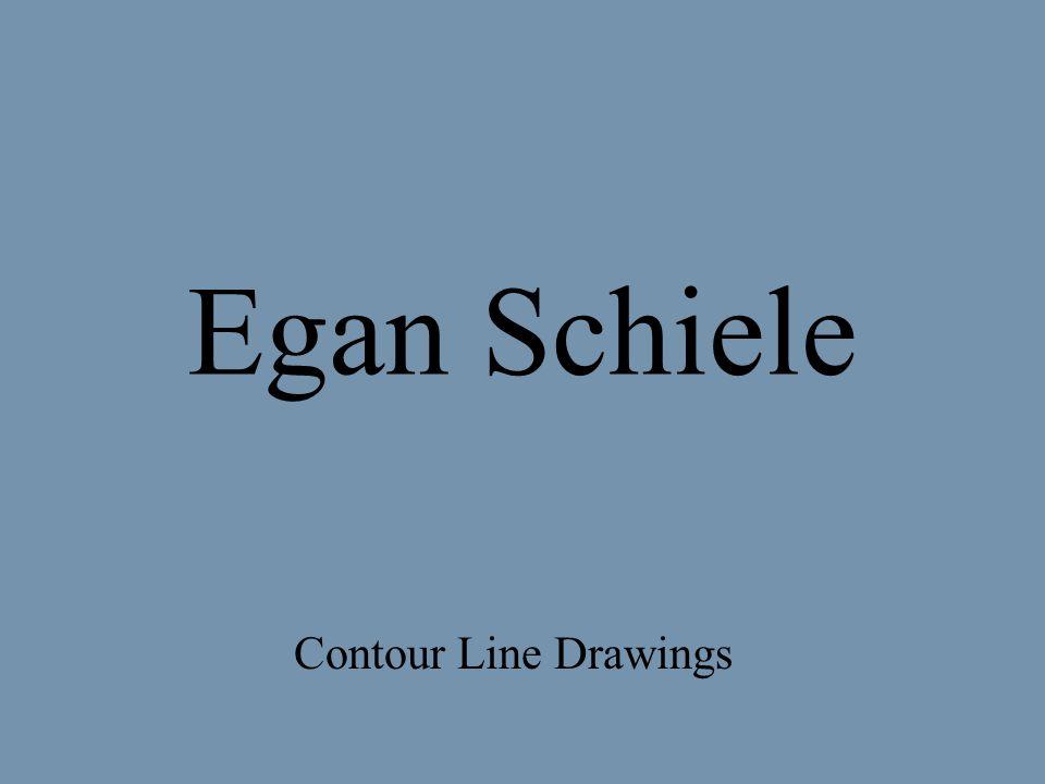 Egan Schiele Contour Line Drawings