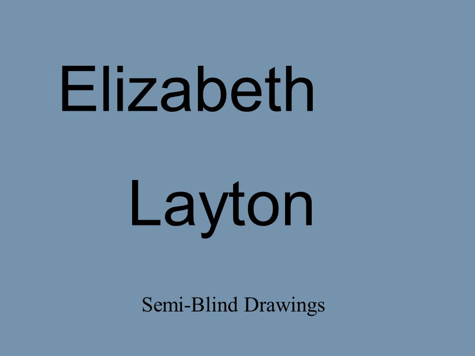 Elizabeth Layton Semi-Blind Drawings