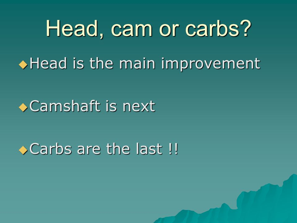 Head, cam or carbs.