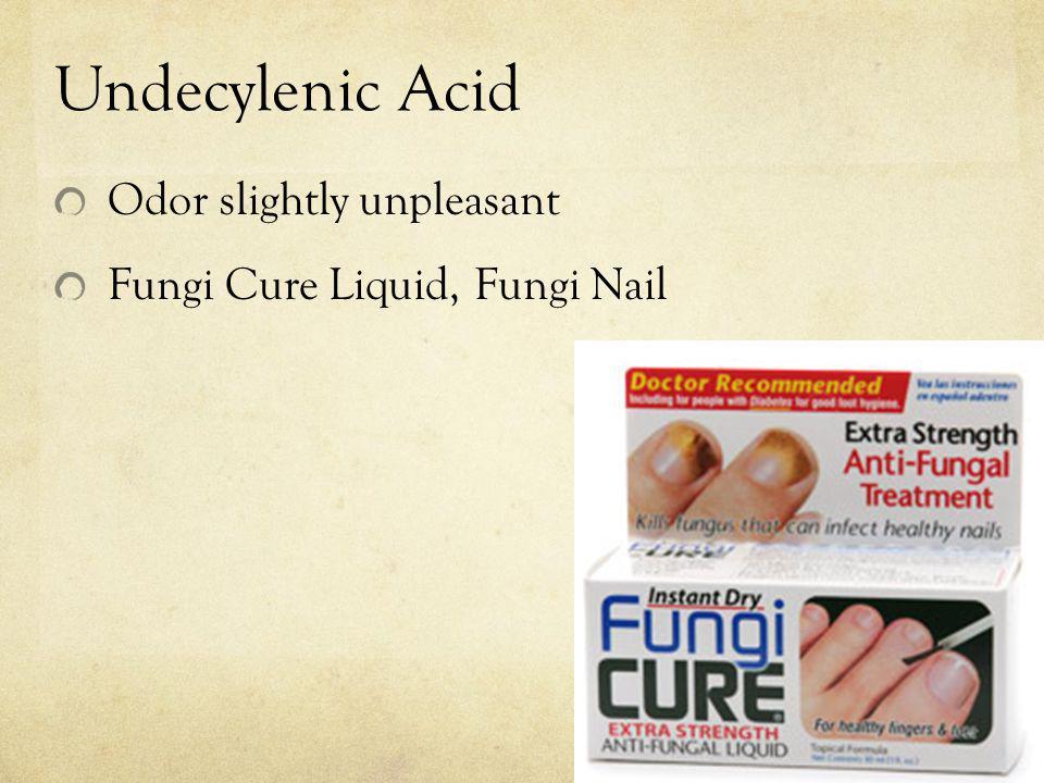 Undecylenic Acid Odor slightly unpleasant Fungi Cure Liquid, Fungi Nail