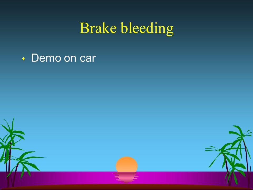 Brake bleeding s Demo on car