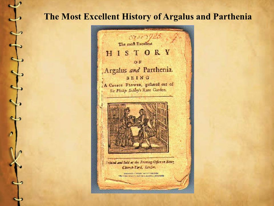 The Most Excellent History of Argalus and Parthenia