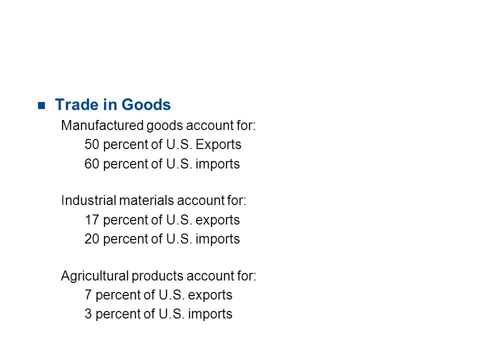 19.1 TRADE PATTERNS AND TRENDS n Trade in Services U.S.