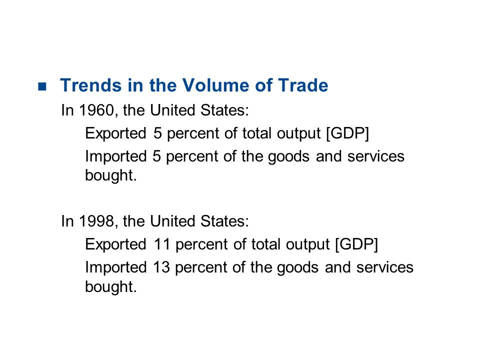 19.2 THE GAINS FROM TRADE Comparative Advantage The U.S.