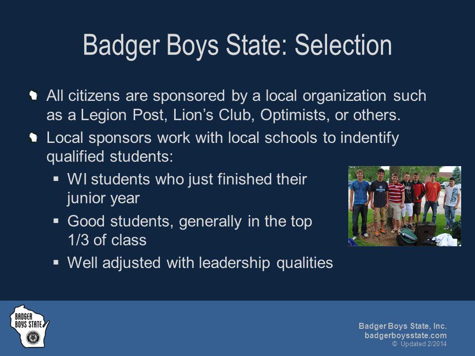 Badger Boys State, Inc.