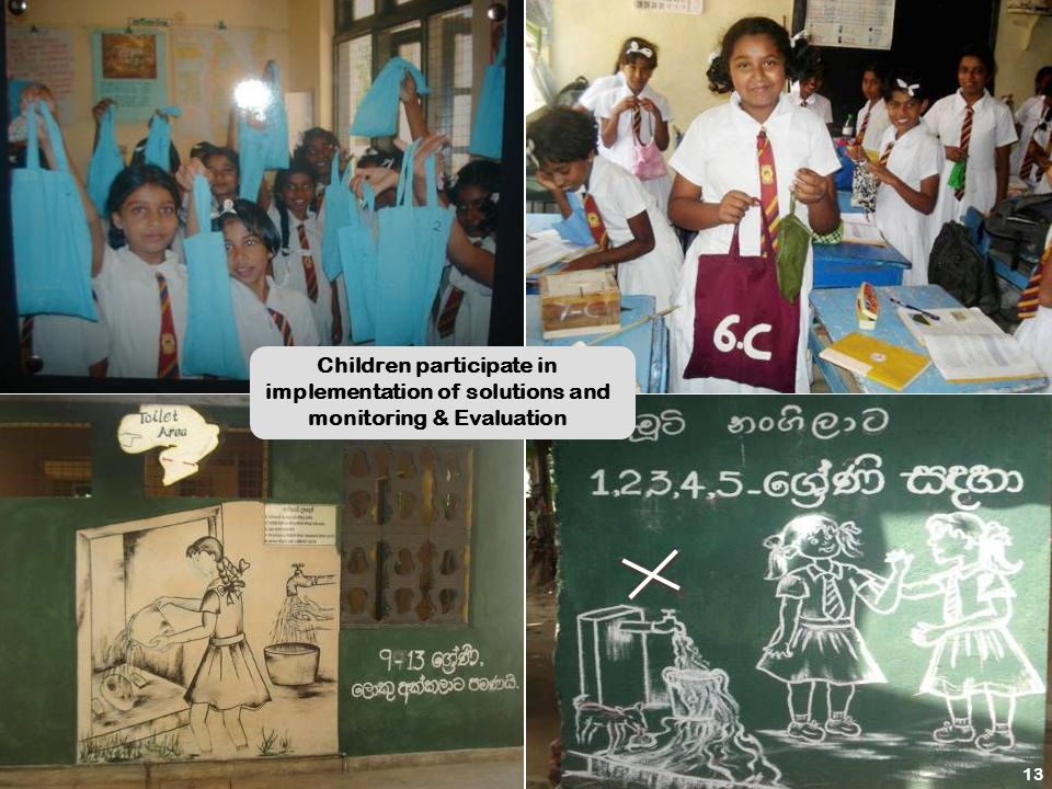 14 Children participate in implementation of solutions and monitoring & Evaluation 13