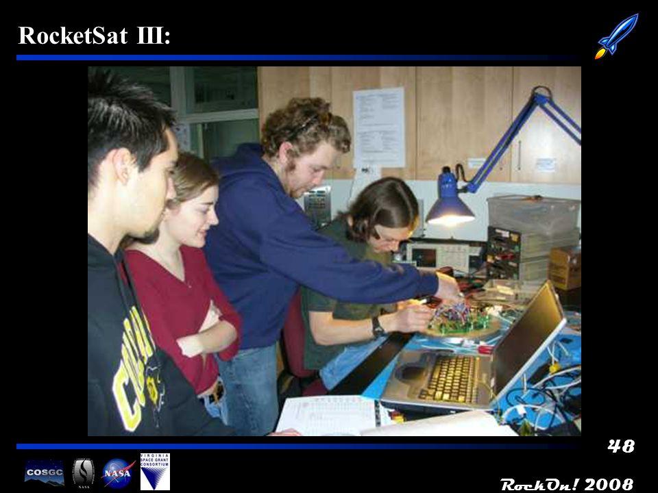 RockOn! 2008 48 RocketSat III: