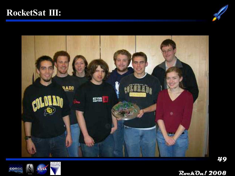 RockOn! 2008 49 RocketSat III: