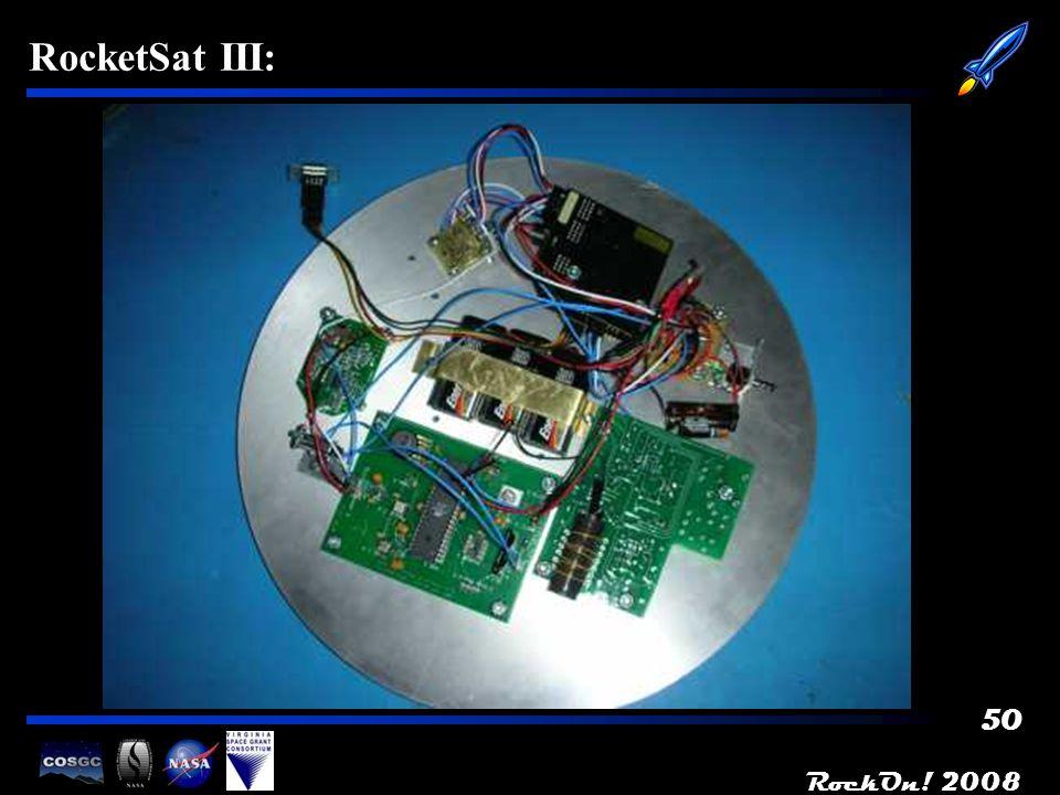 RockOn! 2008 50 RocketSat III: