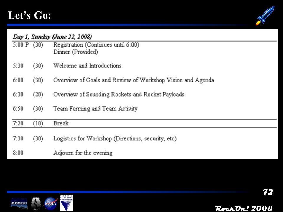 RockOn! 2008 72 Lets Go: -