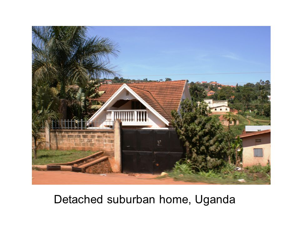 Detached suburban home, Uganda