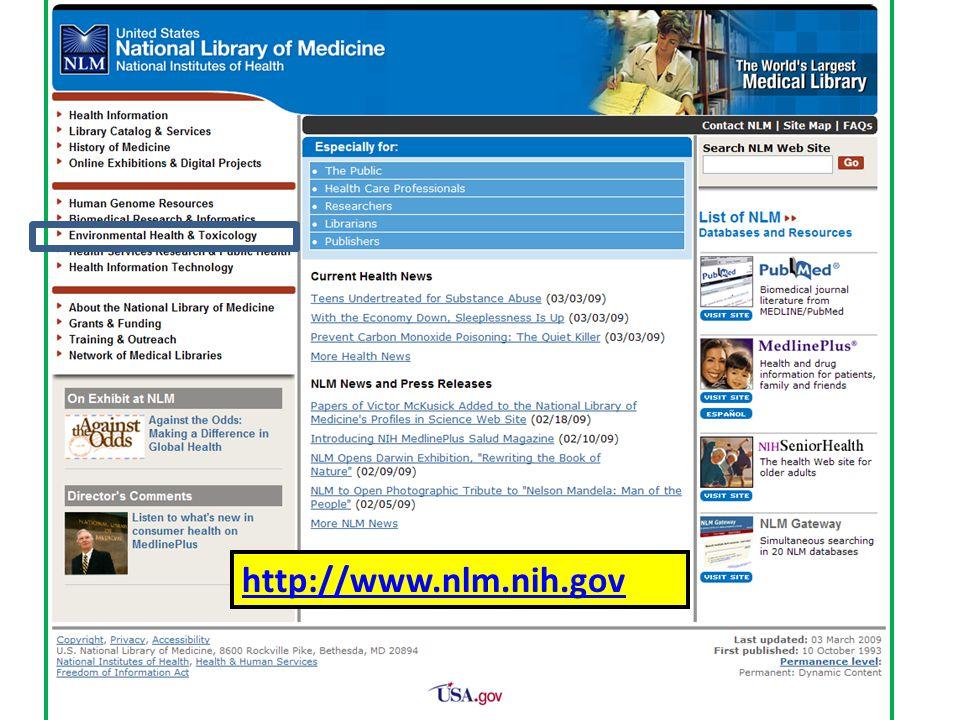 http://www.nlm.nih.gov