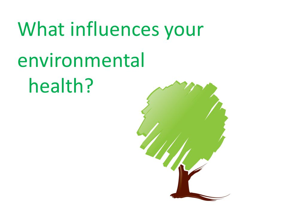 What influences your environmental health?
