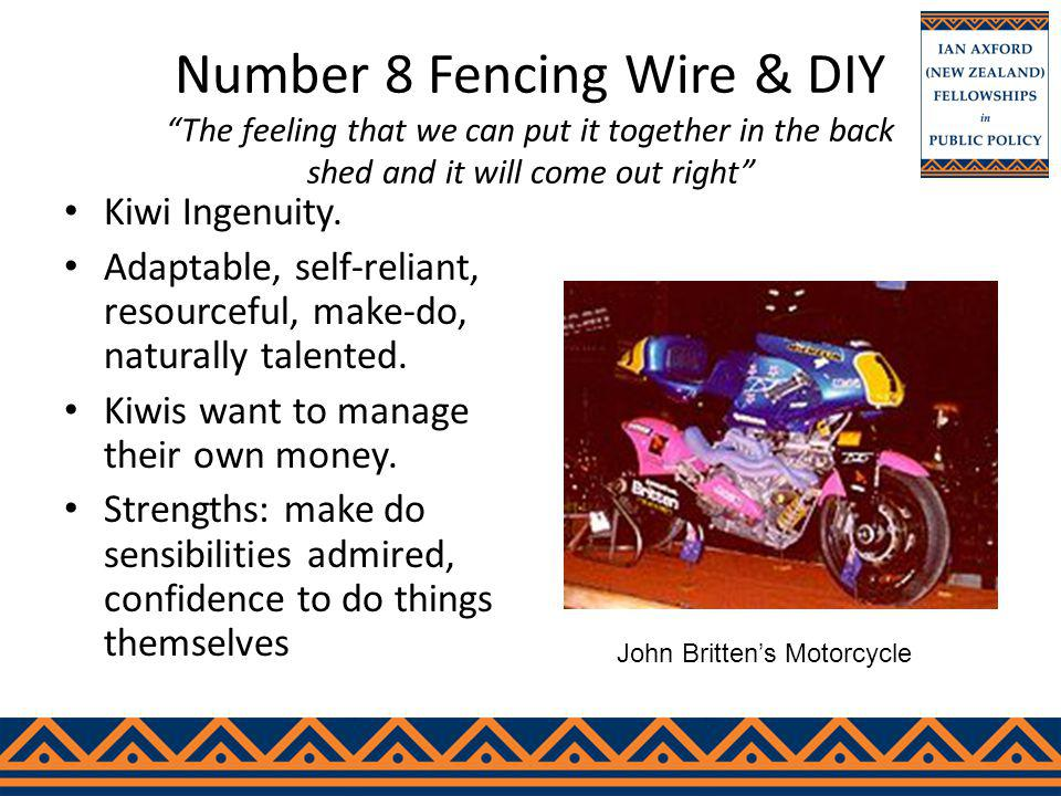 Number 8 Fencing Wire & DIY The feeling that we can put it together in the back shed and it will come out right Kiwi Ingenuity.