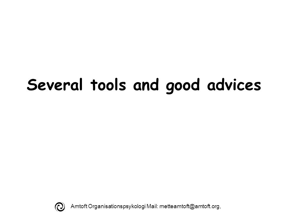 Amtoft Organisationspsykologi Mail: Several tools and good advices