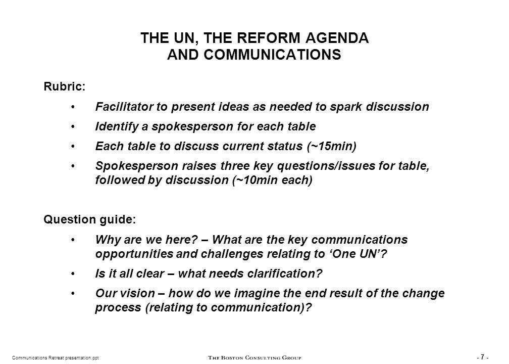 Communications Retreat presentation.ppt - 48 - LUNCH