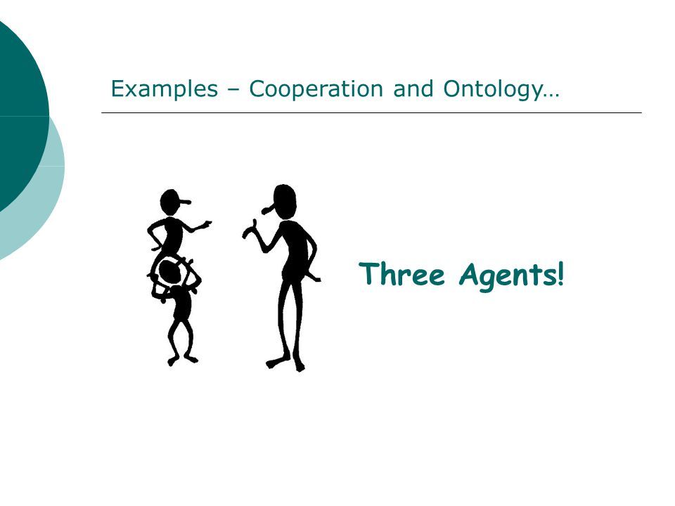 Three Agents! Examples – Cooperation and Ontology…