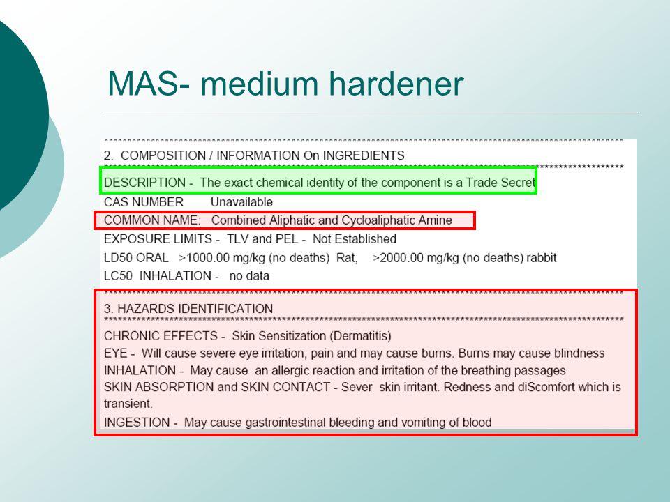 MAS- medium hardener